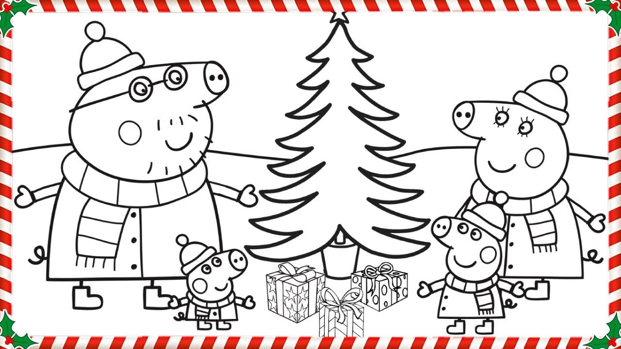 Peppa Pig Christmas Coloring Book Pages Kids Fun Art Coloring Videos For Kids Christmas Coloring Books Peppa Pig Christmas Peppa Pig Coloring Pages