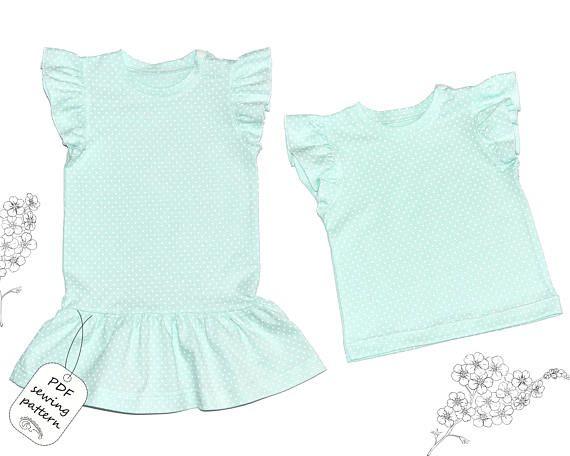 Baby top pattern pdf, baby dress pattern, girls sewing patterns ...