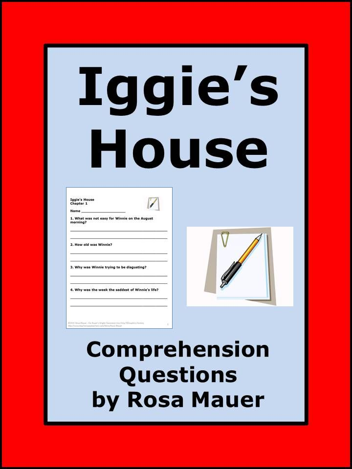Iggies house reading comprehension questions comprehension iggies house by judy blume reading comprehension questions for each chapter and answers for the fandeluxe Choice Image