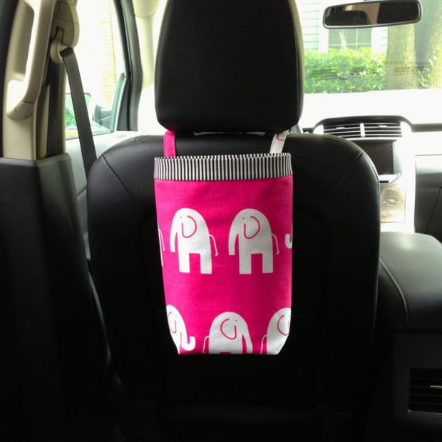 Car Bag ELEPHANTS CANDY PINK And White Women Litter Accessories