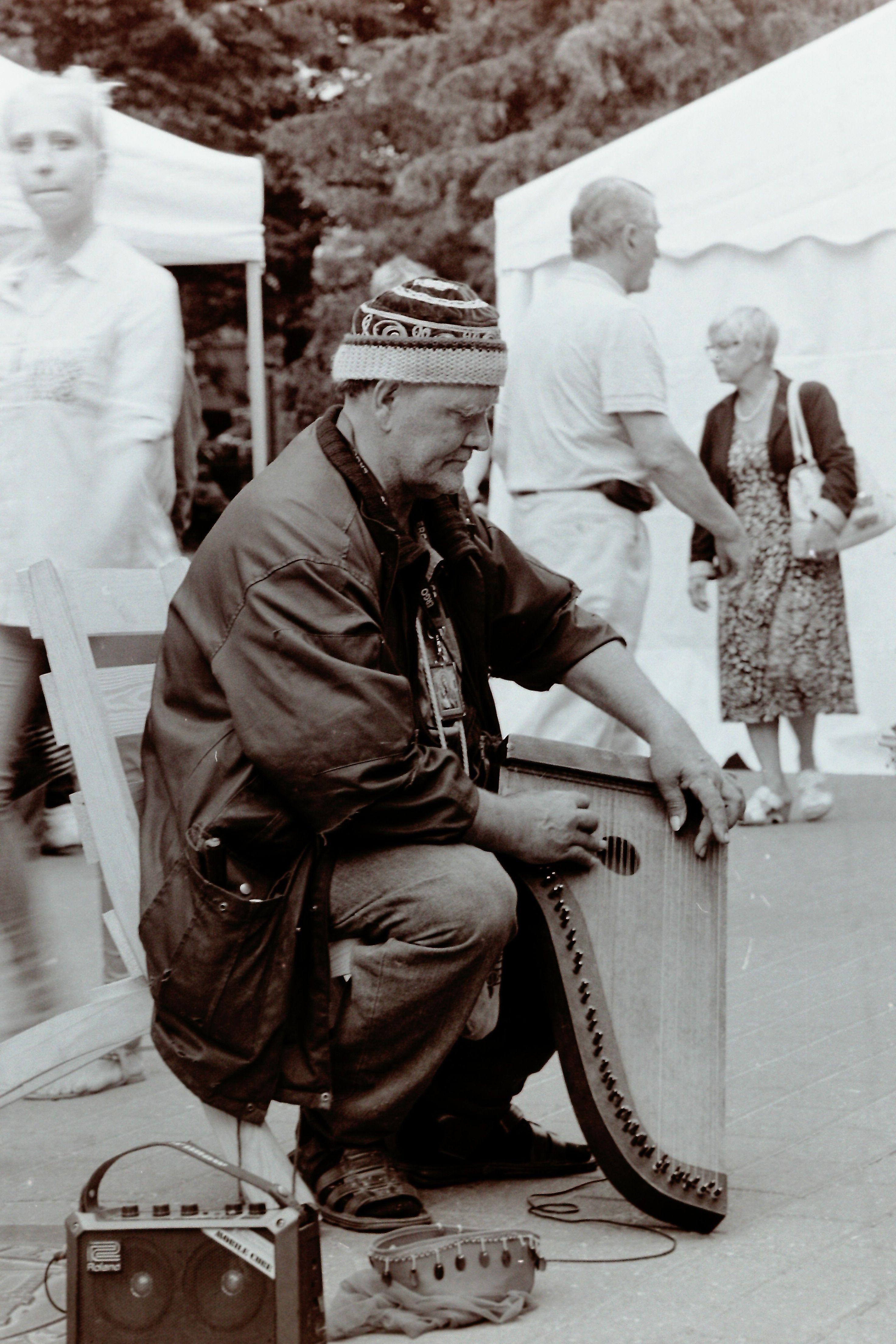 Old music man Author: © Madis - Siim Kull | B&W | The long goodbye