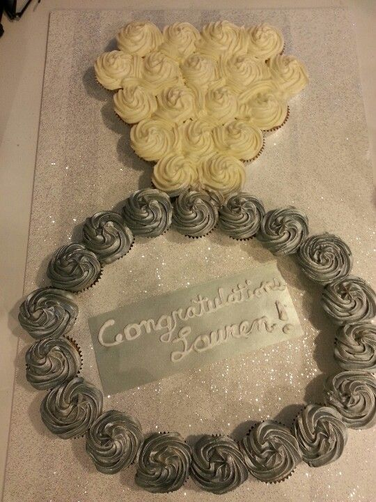 Bridal Shower Ring Cupcake Cake With Booze Cupcakes For A Bachelorette
