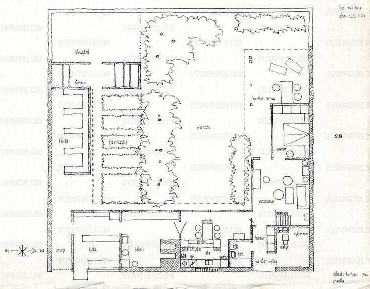 Kingo Houses Denmark 1956 60 Jorn Utzon Jorn Utzon Best House Plans Plan Design