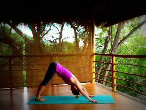 a short 15min practice of yoga postures specifically