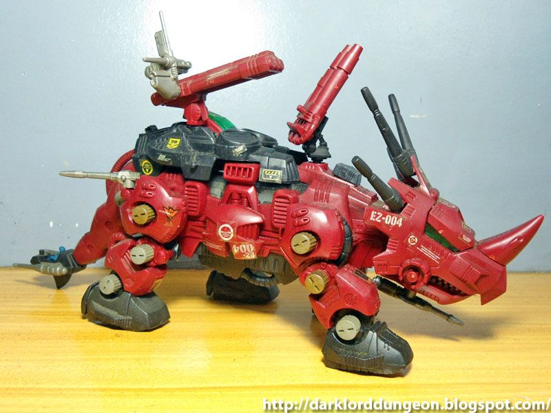 """This is a Zoid. It's called Red Horn. No, really. It is. There is a joke here about """"playing with it too much"""" but it's not the sort of joke you'll find in my show. Ew."""
