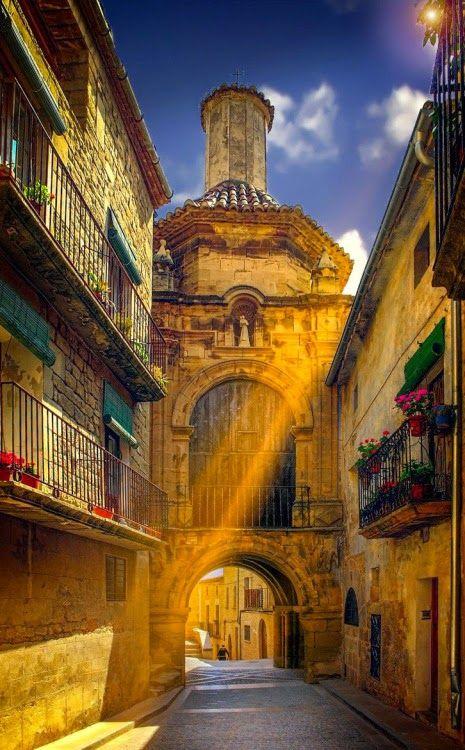 Sun ray, Aragon, Spain.