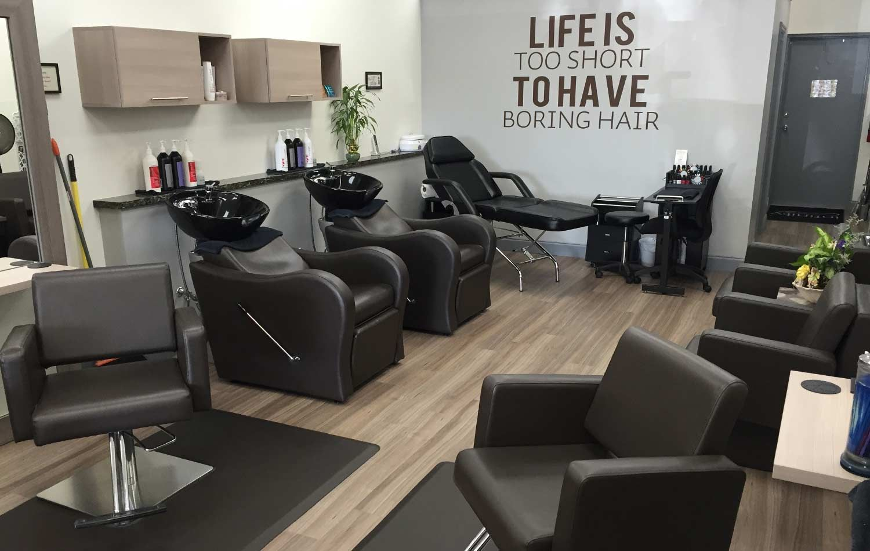 Uno Studio In Nero wave shampoo unit and havana styling chair. custom dry towel