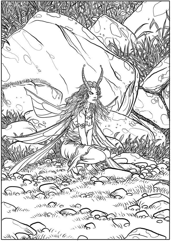 Creative Haven Fantasy Designs Coloring Book Author Aaron Pocock Dover Publications COLORING PAGE 5