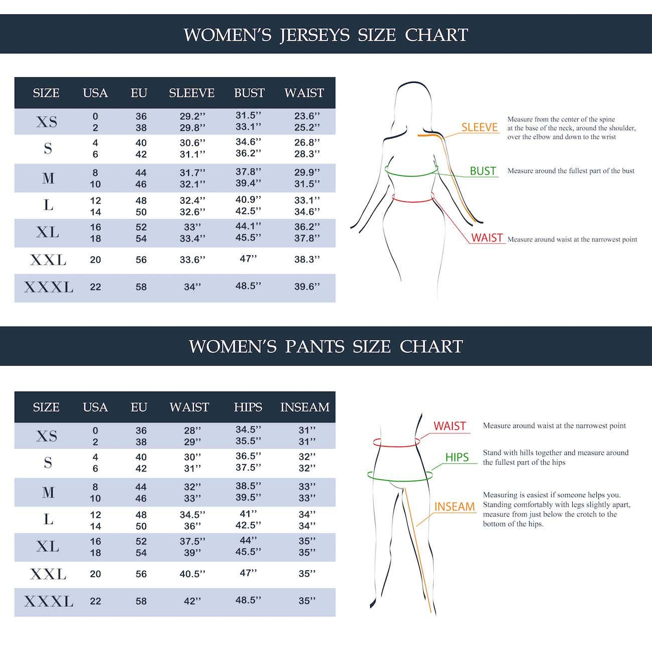 50 Different Types Of Pants For Women And Men Epic List Women Pants Size Chart Clothing Size Chart Types Of Pants