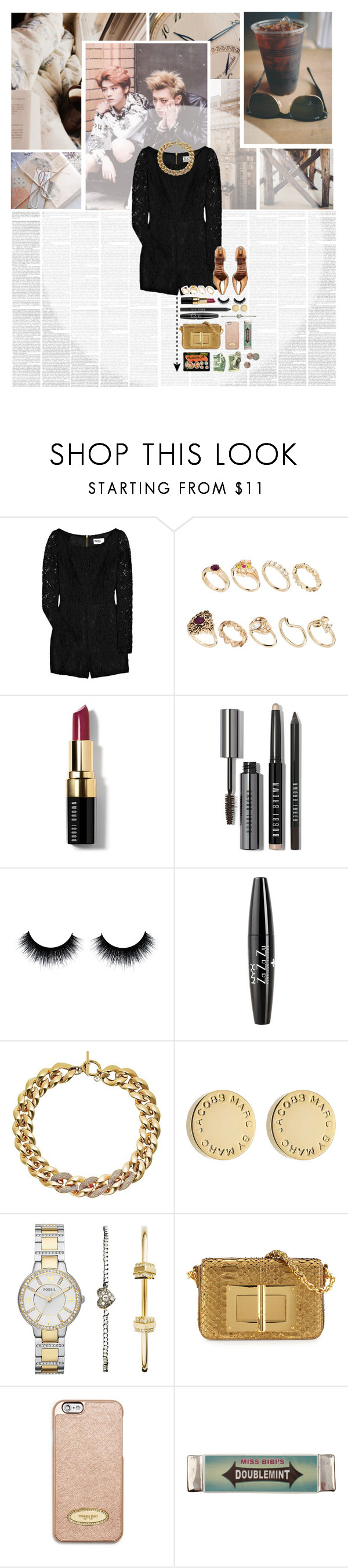 """The days are long but the years are short"" by glitterlovergurl ❤ liked on Polyvore featuring Misbehave, Alice by Temperley, ASOS, Bobbi Brown Cosmetics, NYX, Michael Kors, Marc by Marc Jacobs, FOSSIL, MICHAEL Michael Kors and Miss Bibi"