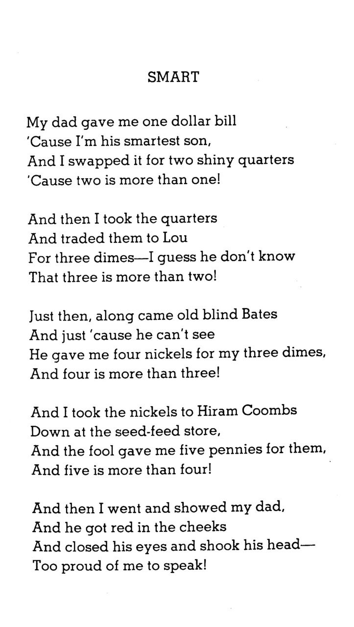 """Smart"" by Shel Silverstein | Quotes | Silverstein poems ..."