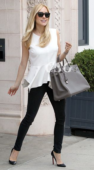 0634d205163c The always stylish Kristin Cavallari wore the Elizabeth and James Yumi  Peplum Top as leaving the Jose Eber Salon in Beverly Hills, CA on September  26th, ...
