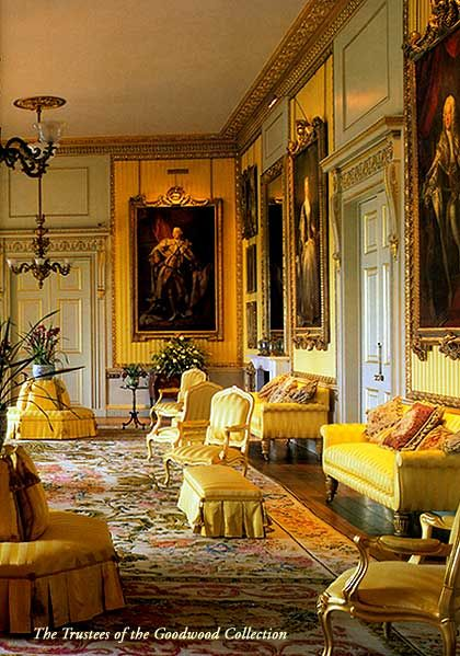 Inside House Drawing: The Yellow Drawing Room Of Goodwood House