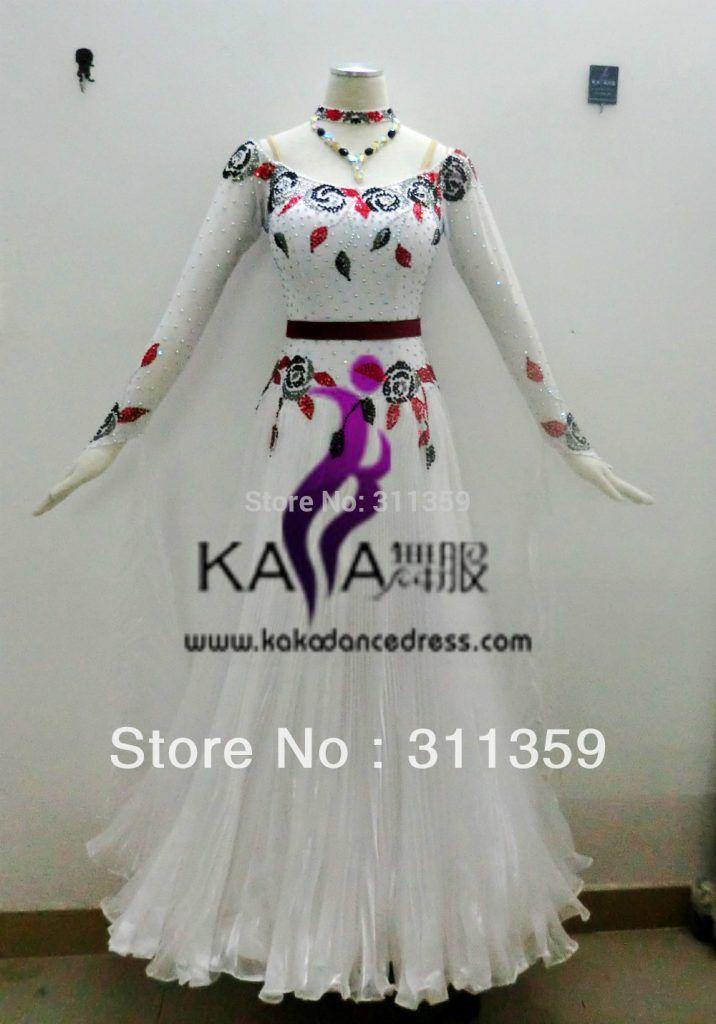 KAKA DANCE B1345,Silk Organza Fabric Ballroom Standard Dance Dress,Waltz Dance Competition Dress,Women,Girl,Dance Dress Ballroom