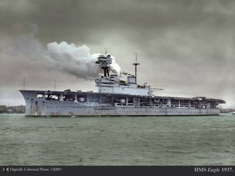 colorized photo hms eagle