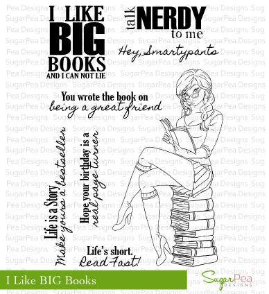 SugarPea Designs - I Like BIG Books stamp set $14.95
