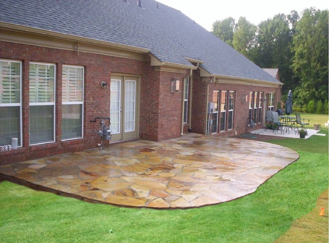 This Particular Gallery Will Share To You A Collection Of Gorgeous Stone Patio  Ideas Different Backyard Designs.Youu0027ll Be Inspired With These Pictures Of  ...