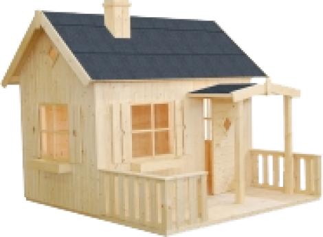 Casa de madera de exterior para ni os modelo 5 de jard n for Casa juguete jardin