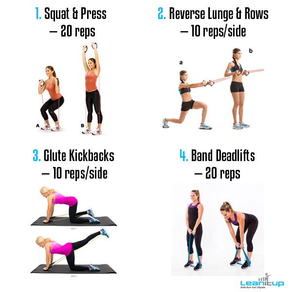 Do These Resistance Band Circuits To Burn Up Your Muscles