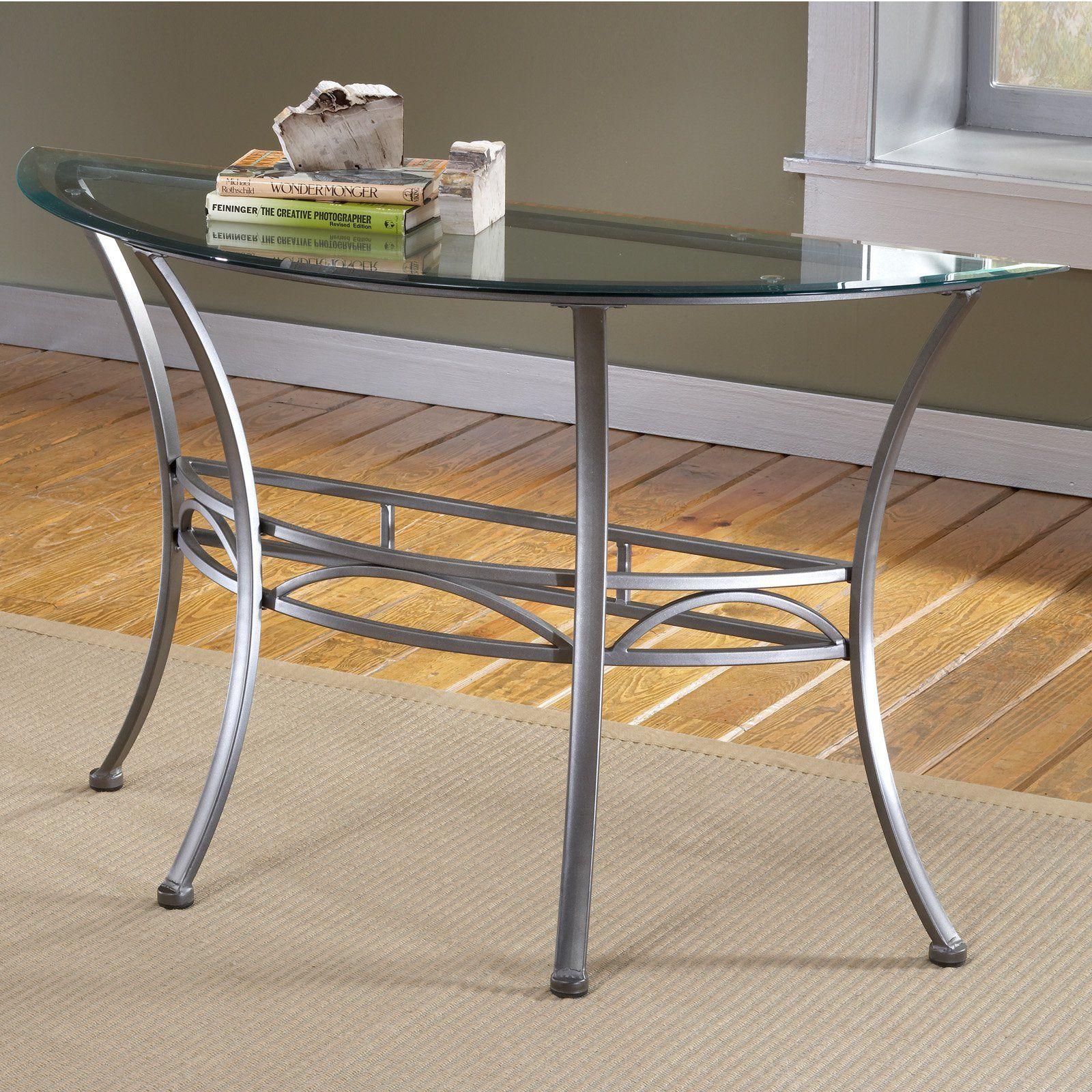 Hillsdale Abbington Console Glass Top Table The Half Moon Shape