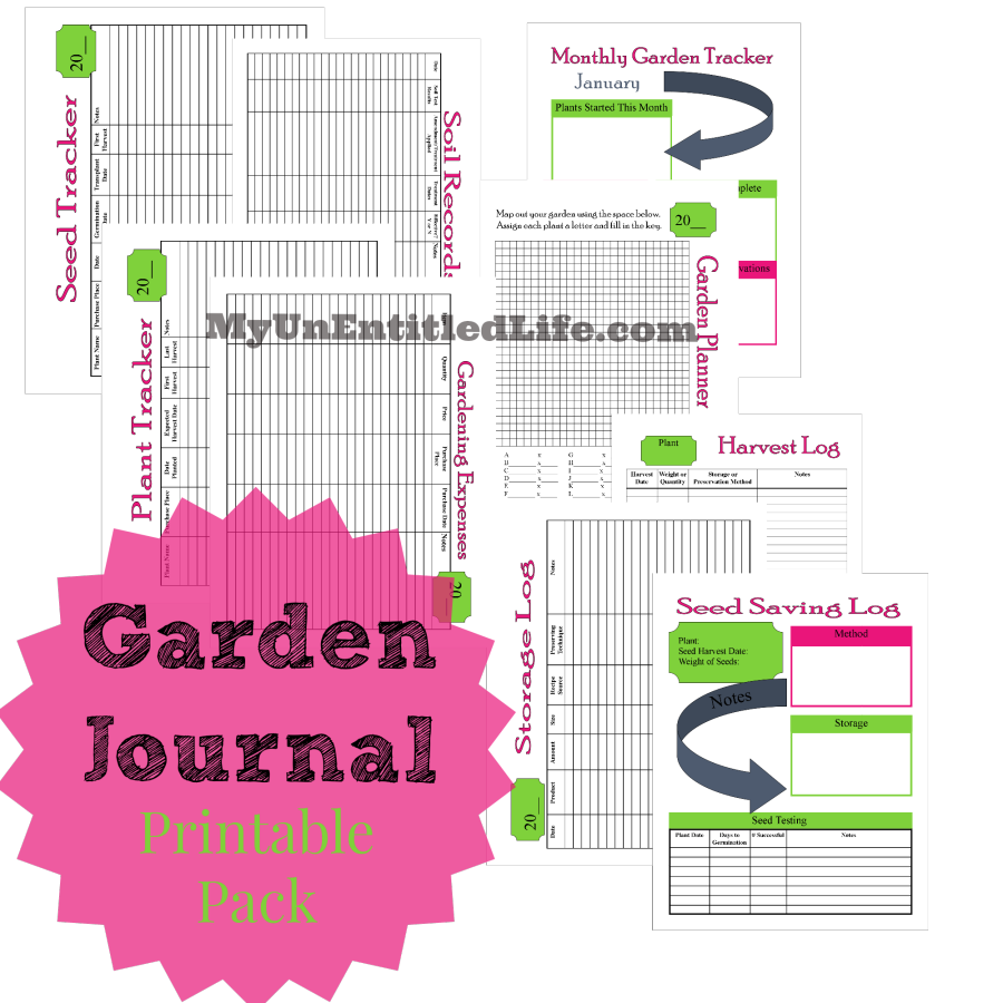 Square foot garden map free printable for garden journal - Garden Journal Printable Pack For Free Keep Track Of All Things Gardening