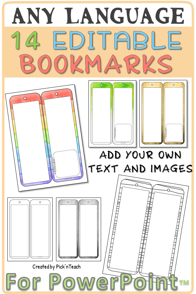 Double Sided Bookmark Templates For