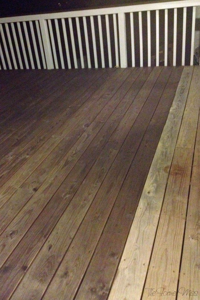 A Deck Makeover… part 2! – Staining deck