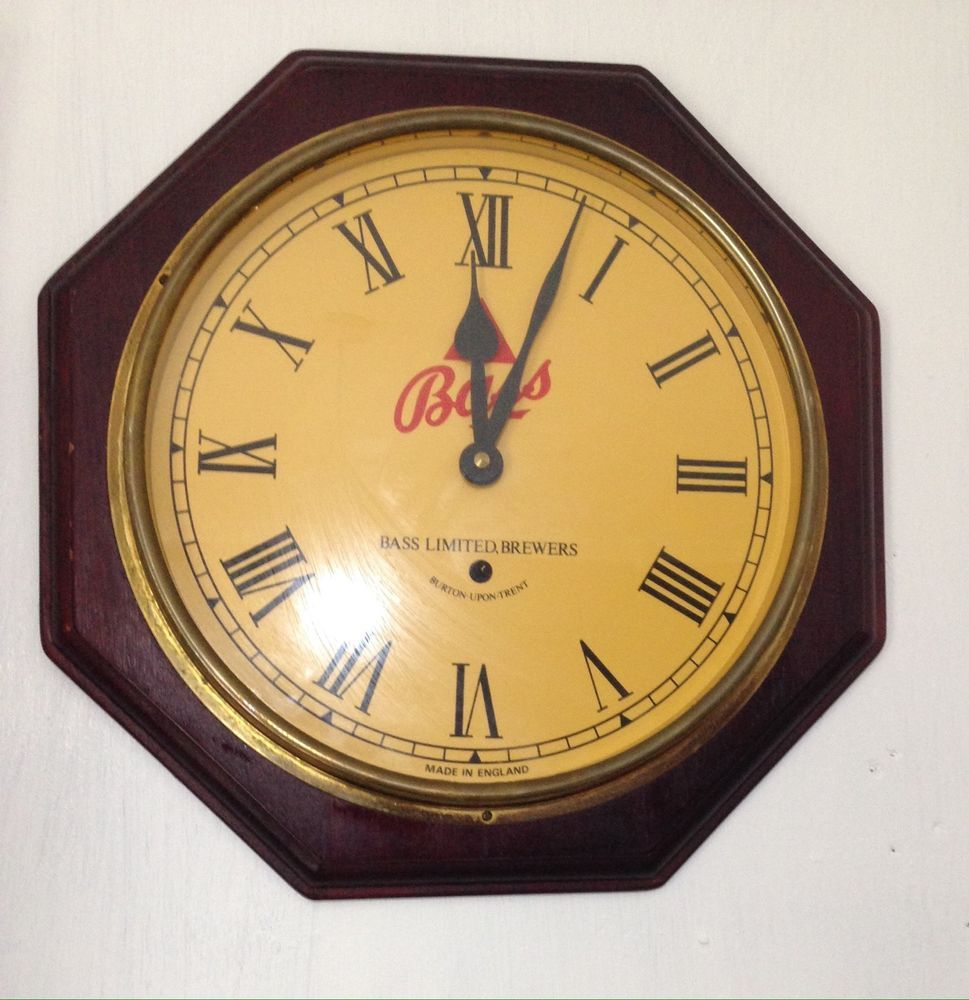 Vintage bass brewers collectible wall clock man cave new vintage bass brewers collectible wall clock man cave amipublicfo Image collections