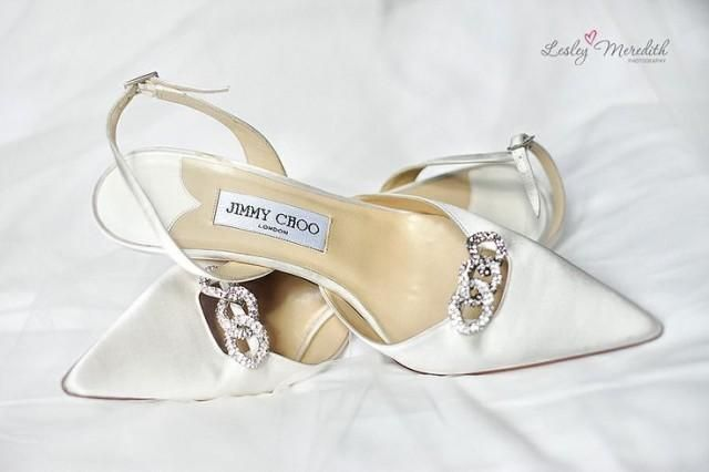 You just can't help but fall in love with these classical bridal 'Choo's 'Perfect  shoe   JUST PERFECT