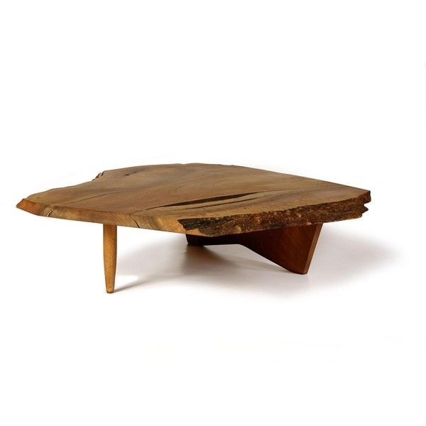 Conoid Coffee Table from George Nakashima Woodworker 3200 popup ❤ liked on Polyvore featuring home, furniture, tables, accent tables, low table and low coffee table