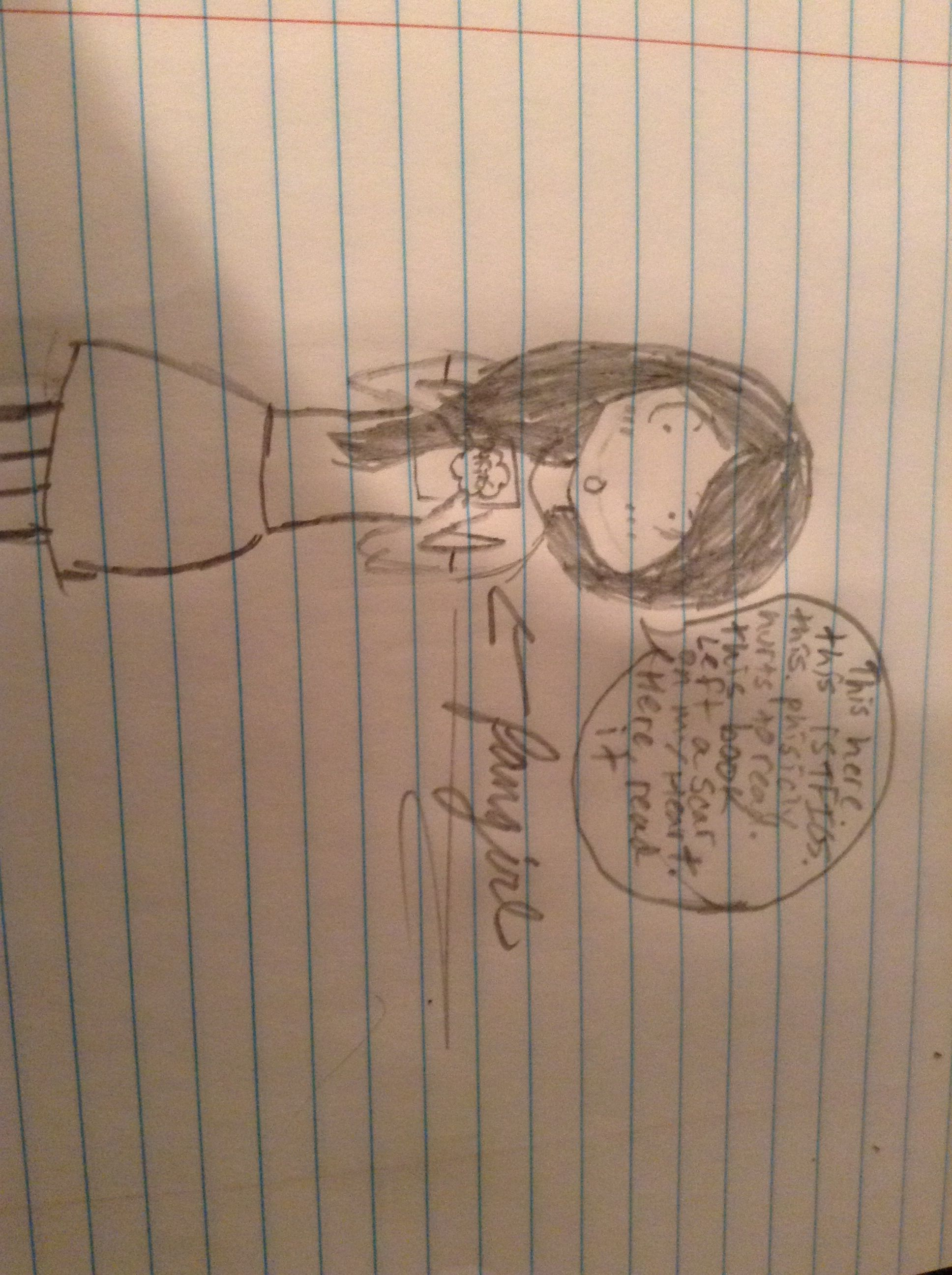 Some chick after reading TFIOS. Idk i was bored