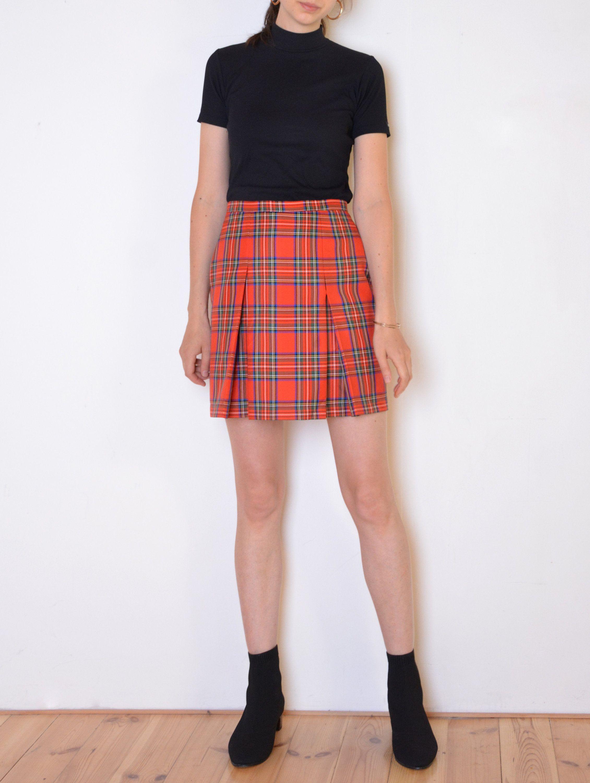 Vintage 90/'s mini pleat skirt 34