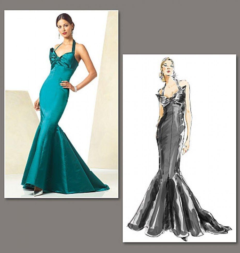 Vogue Ladies Sewing Pattern 2931 Fishtail Evening Dress With Train Sewing Pattern Evening Dress Patterns Evening Dress Sewing Patterns Vogue Dress Patterns [ 981 x 929 Pixel ]