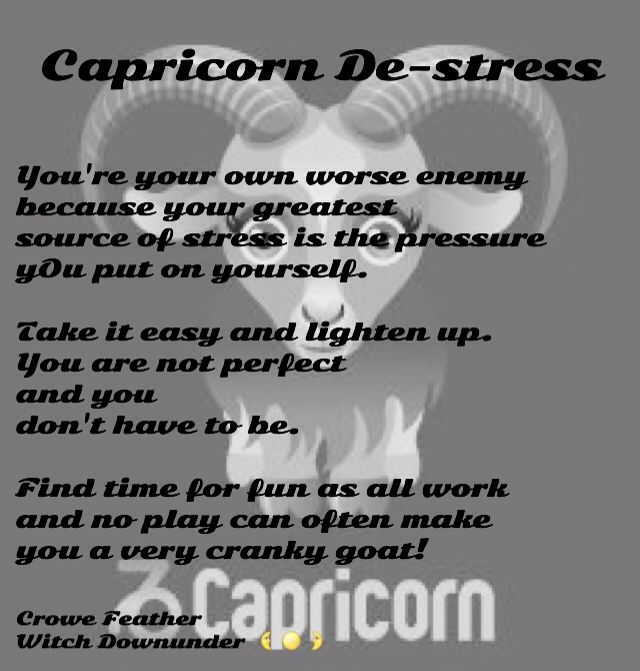 Capricorn De-stress #crowefeather