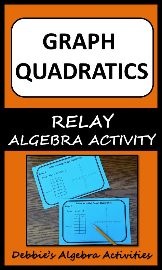 Graph Quadratics In Standard Form Relay Activity Pinterest