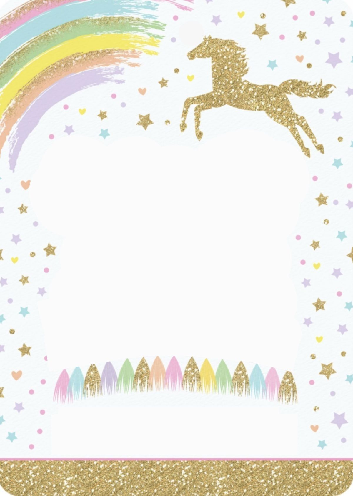 Invitación Unicornio Invitaciones Unicornio Invitaciones