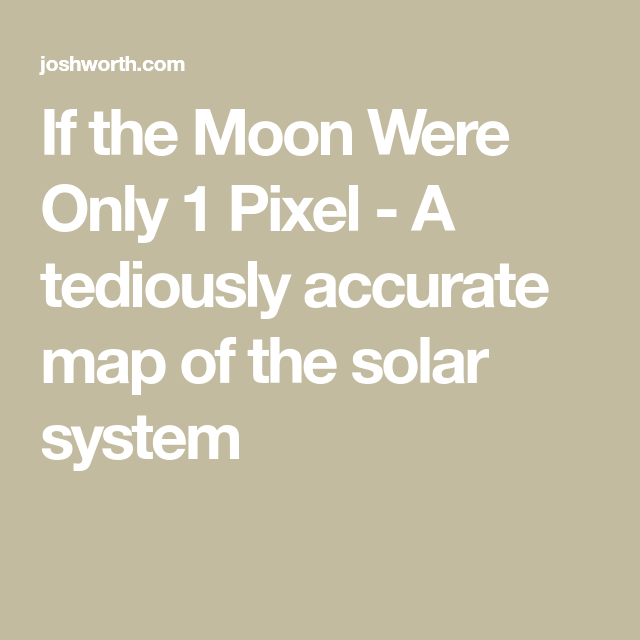 If The Moon Were Only Pixel A Tediously Accurate Map Of The - Accurate map of the solar system