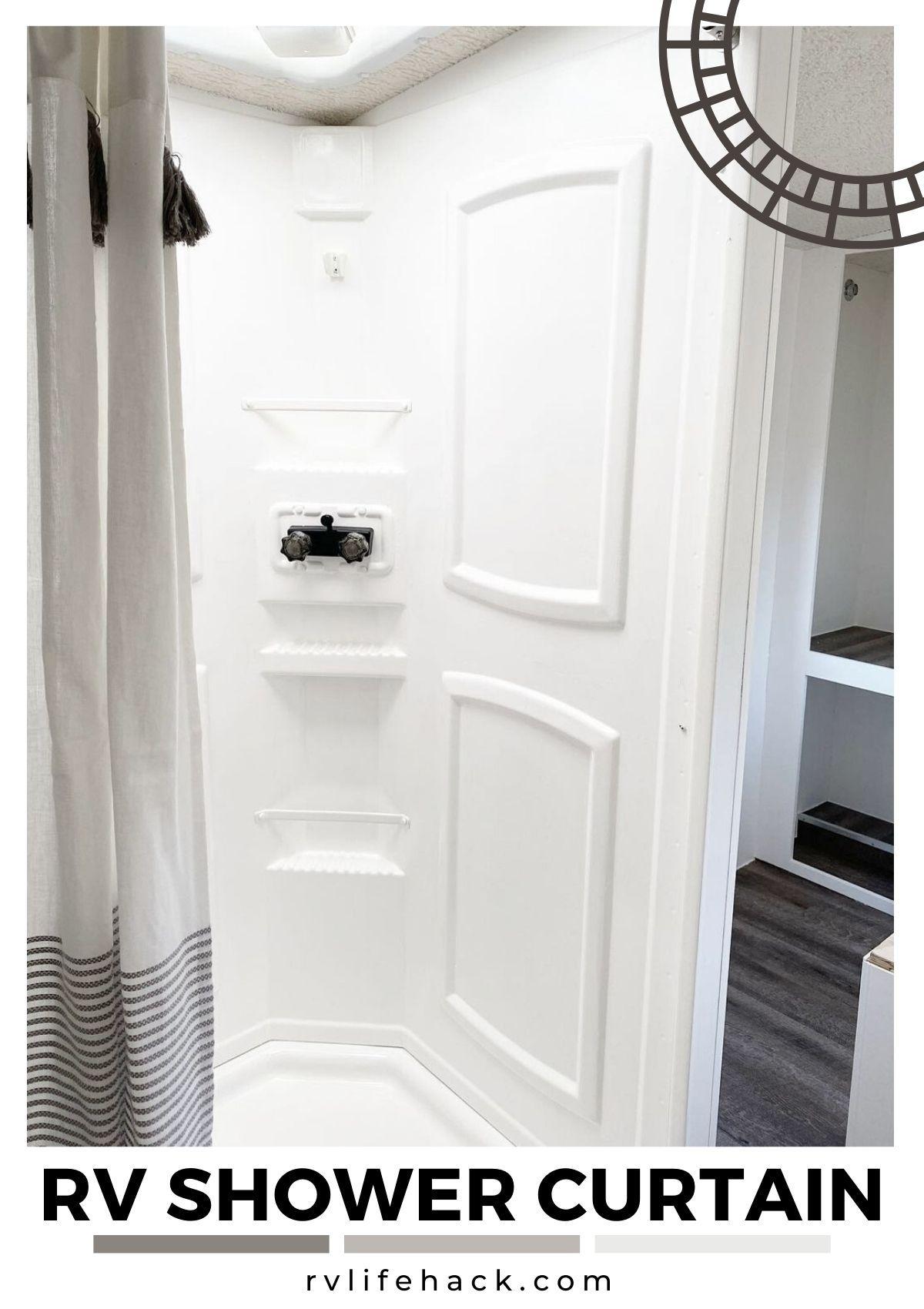 rv shower curtain ideas rv outdoor