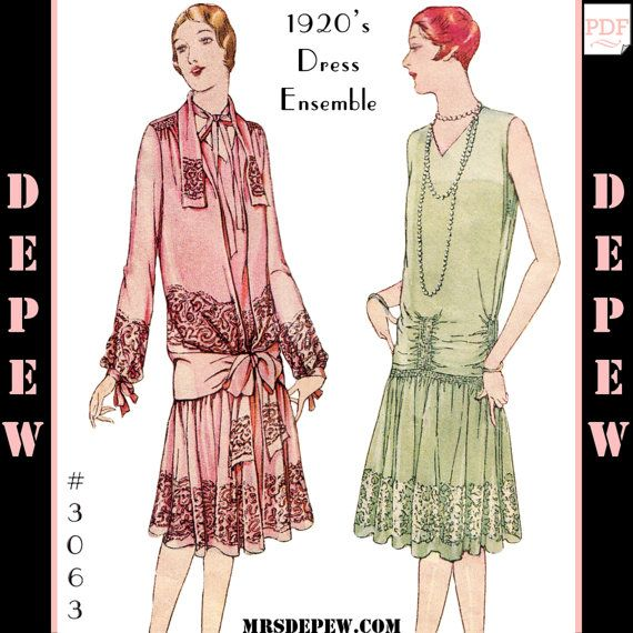 Vintage Sewing Pattern Reproduction Ladies\' 1920s Martial et Armand ...