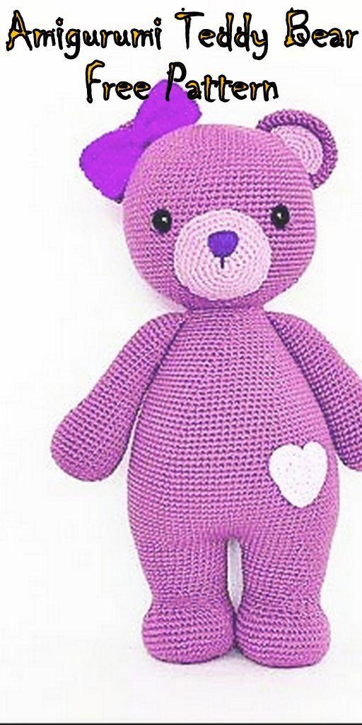 Amigurumi Pink Teddy Bear Free Crochet Pattern - Crochet.msa.plus #crochetbearpatterns