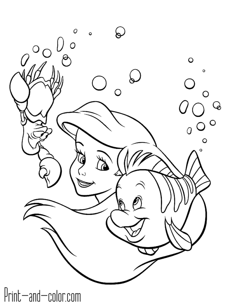 The Little Mermaid Coloring Pages Print And Color Com Mermaid Coloring Pages Little Mermaid Drawings Disney Princess Coloring Pages