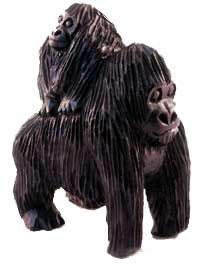 Wood Gorilla Carvings From Virunga Artisans Gorillas Art