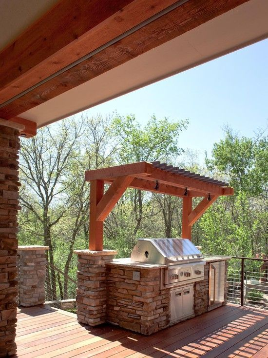 07 Small Pergola Over The Grill For Maximum Ventilation And To Take Less Space Shelterness Outdoor Grill Area Outdoor Bbq Outdoor Pergola