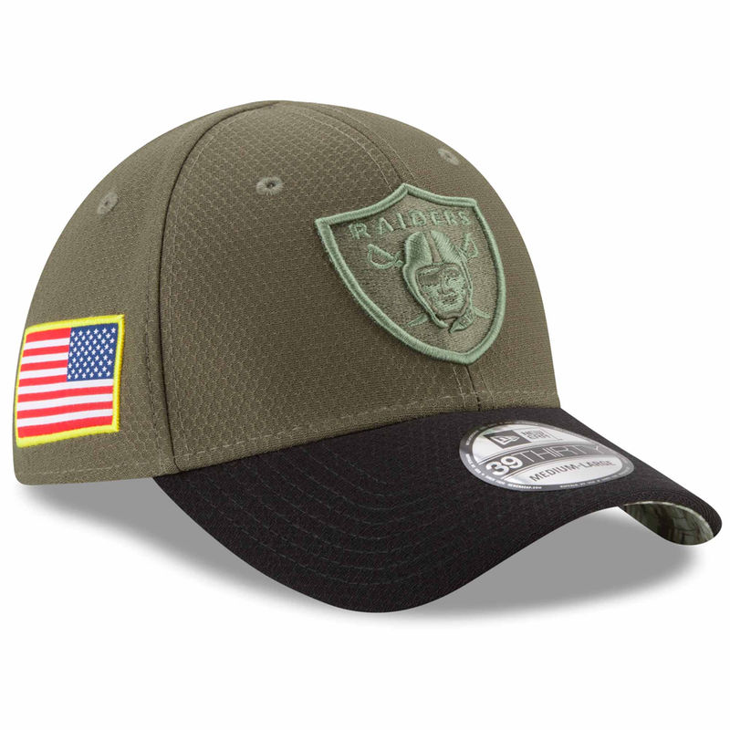 1343fb1f33f Oakland Raiders New Era Toddler 2017 Salute To Service 39THIRTY Flex Hat –  Olive