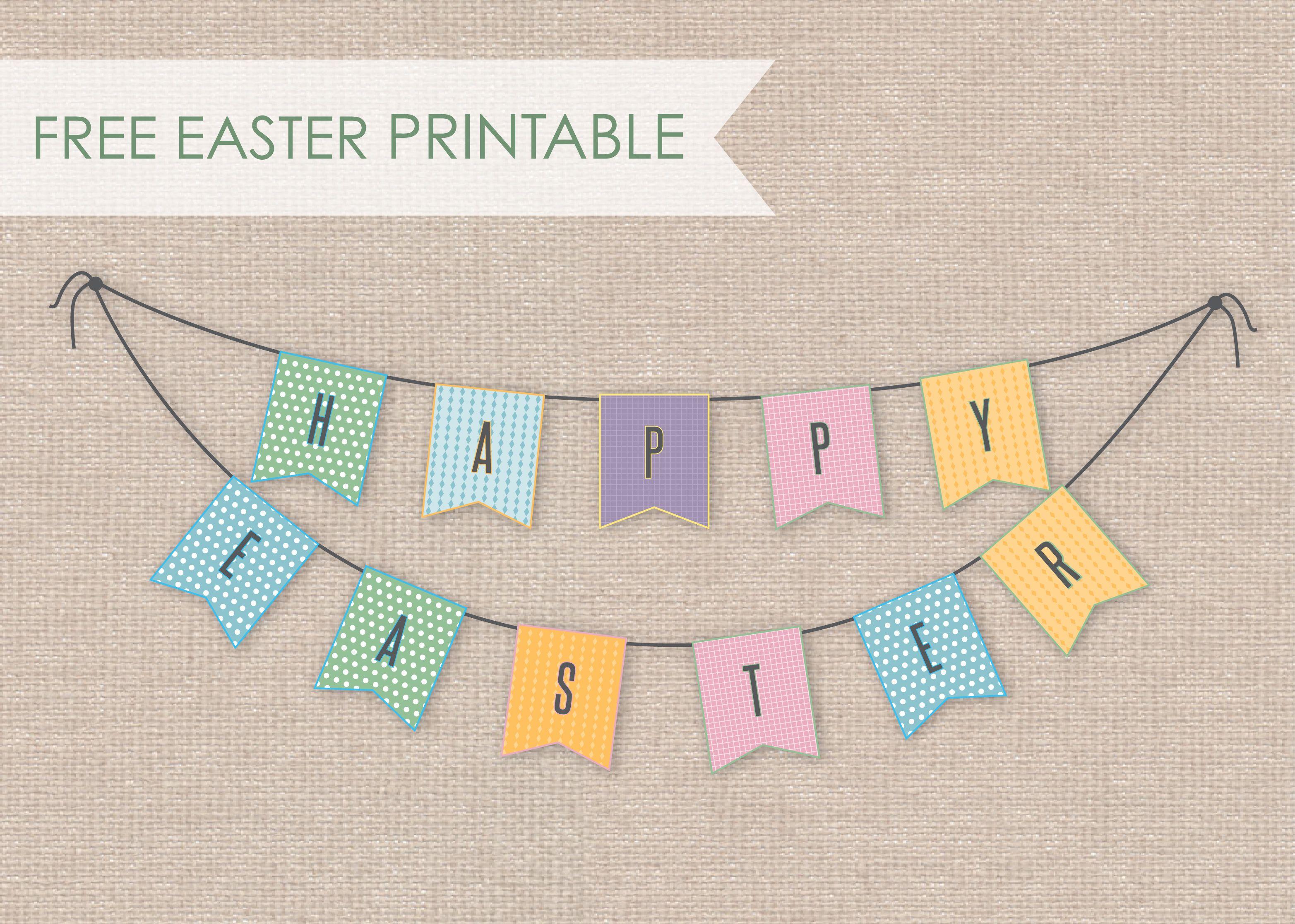 Printable Easter Bunting