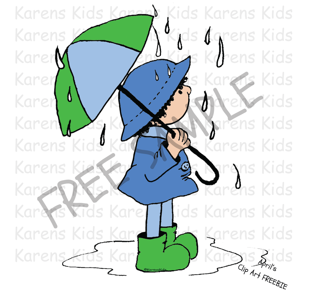 Free Clip Art Of The Month Spring Showers Freebie Clip Art
