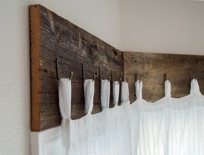 Farmhouse Window Treatments with Reclaimed Wood