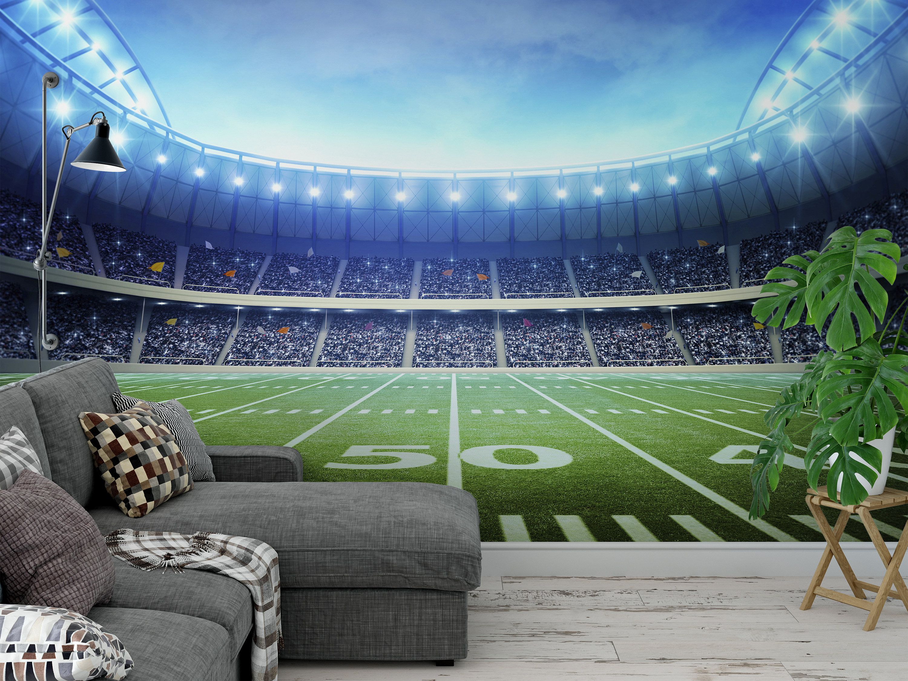 Football Stadium 2 Wallpaper Mural