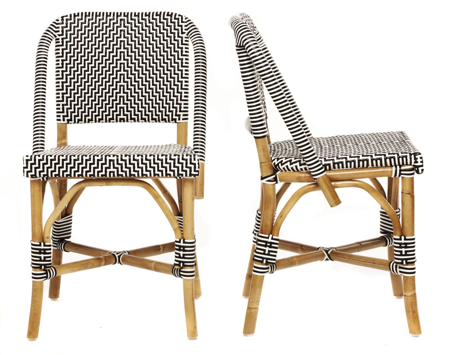Bistro Lu0027afrique Black And White Pattern Bistro Chairs A Modern Approach  With A French Flair For Dining Can Be Used Outdoors