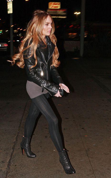 Lindsay Lohan In 2019 Lindsay Lohan Fashion Leather